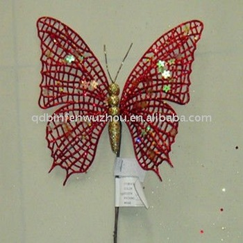 artificial crafts butterflies for christmas tree decoration buy
