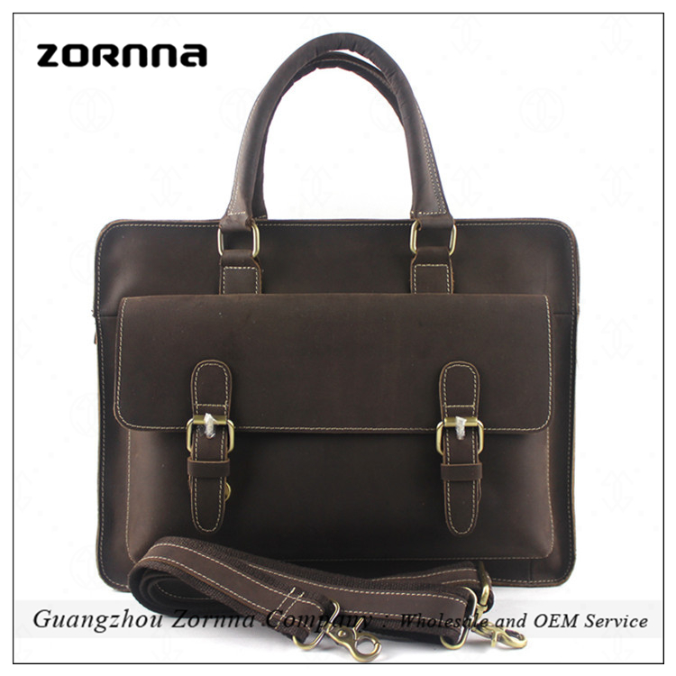 Zornna Guangzhou Real Leather Gents Handbags