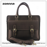 Zornna Guangzhou Real Leather Gents Handbags