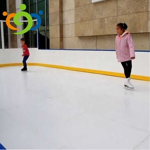 New 1m*1m*10mm glossy PE synthetic ice rink board