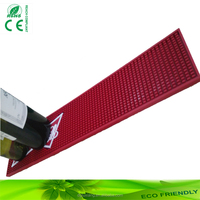 eco-friendly soft PVC bar mat for bar accessories bar table decorations branded beer drip mat