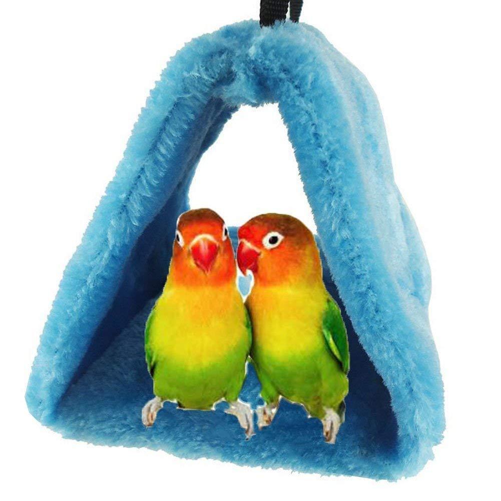 Bello Luna Parrot Nest Pet Bird Nest Winter Warm Hammock Hanging Cave Cage Plush Happy Hut Tent Bed