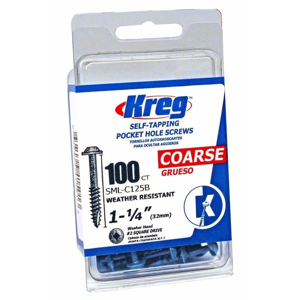 Kreg SML-C125B-100 Blue-Kote WR Pocket Screws - 1-1/4-Inch 100 pack New