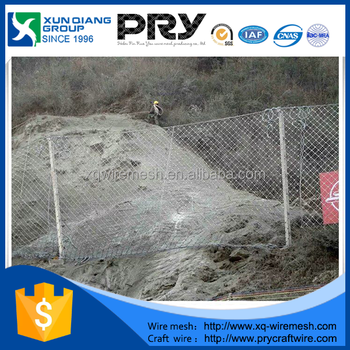 Passivity Wire Mesh Fence For Side Slope Protection (sns Ring Network)