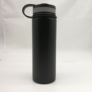 Purple/orange/red/green color powder coating non spill flip cap with 18oz capacity vacuum flask Gradient Color Laser Etch Logo