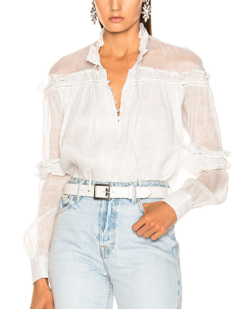 Latest High Fashion Custom Blouse See Through Sleeves Long Sexy Shirt Blouse