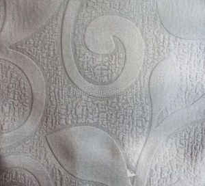 Embossed blackout fabric good looking as curtain material
