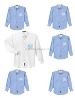 Set of 7 Monogrammed Oversized Embroidered Button Down Oxford Bridesmaid Shirts