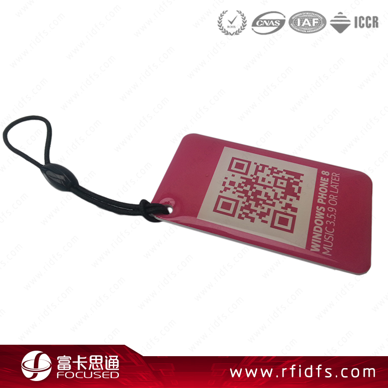 silk screen printing OEM HF 13.56 MHz RFID NFC Epoxy Tags