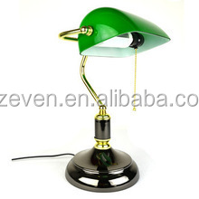 Alibaba Provide Copper Table Lamp Desk Light Green Glass Cover ...