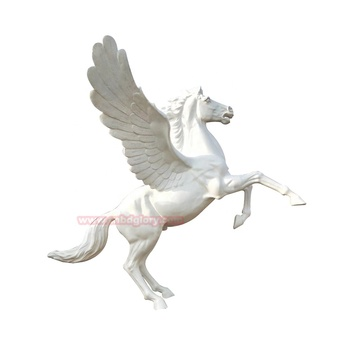 High Quality cnbdglory products fiberglass winged horse sculpture
