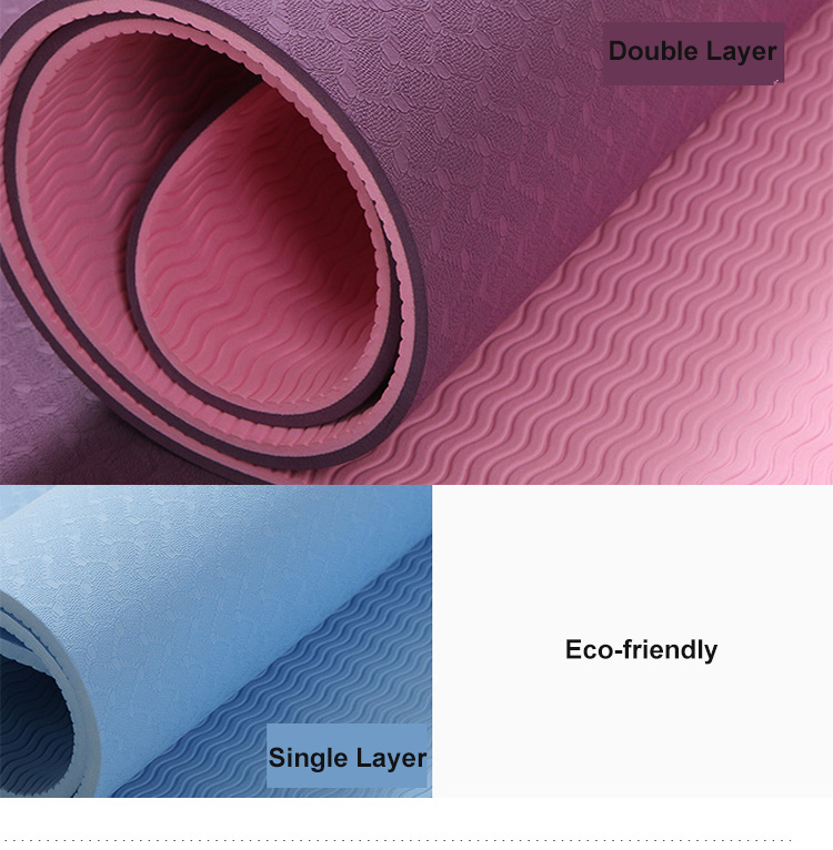 Eco-Friendly Non-Slip Fitness Oem Yoga Mat With Strap