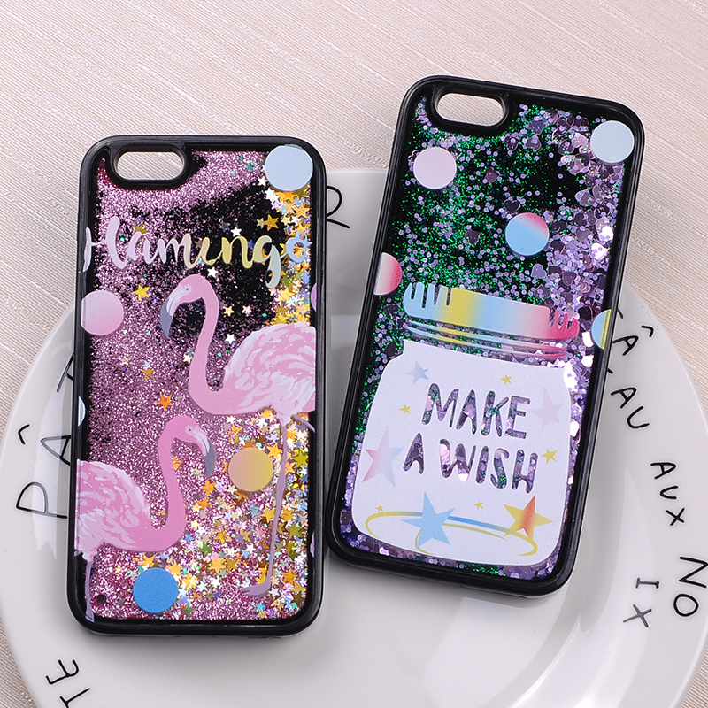 TOMOCOMO Glitter Vloeibare Sparkle Buitenste Ruimte Baseball Flamingo Star Dinosaurus Cartoon zachte Case Voor iPhone 7 7 Plus 6 S 6 Plus 5 SE 8
