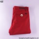100% Cotton Casual Long Red New Fashion Pant Man Trousers Wholesale