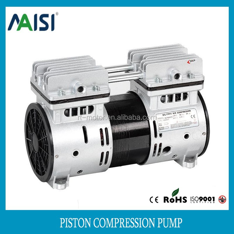 Mute quiet oil free ac 220v small piston air micro compressor pump