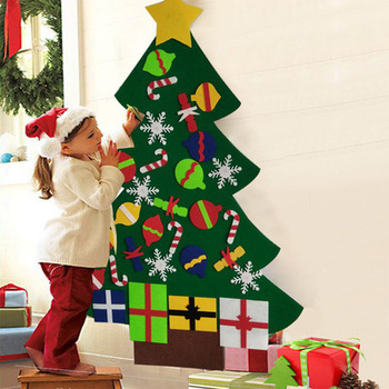 in stock 25f9f 660f7 Diy Felt Christmas Tree Set With Ornaments For Kids Xmas Gifts With 30 Pcs  New Year Detachable Ornaments Wall Decor - Buy Felt Christmas Tree,Felt ...