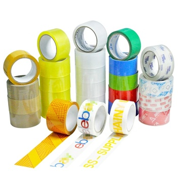 Custom Carton Shipping Sealing Tape Bopp Acrylic Adhesive Package Color Opp Packing Tape With Printed Logo
