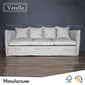 New Model Fabric Linen Sofa With Removable Cover