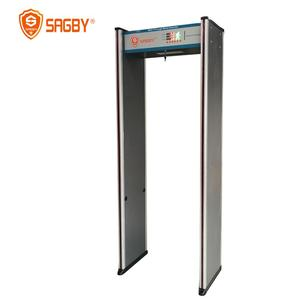 Humanoid Alarm Indicator Door Frame Metal Detector 6 Zones Walk Through Metal Detector