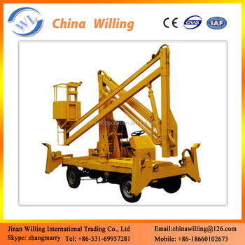 Self Propelled Mobile Hand Crank Lift Table Elevator