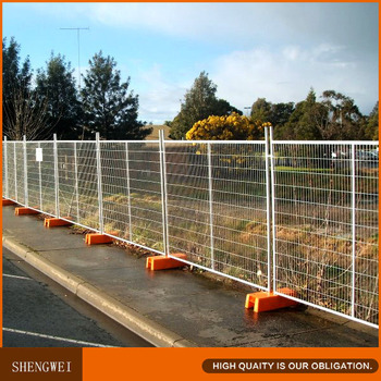 Portable Security Fence Panel Temporary Fencing Set Panel