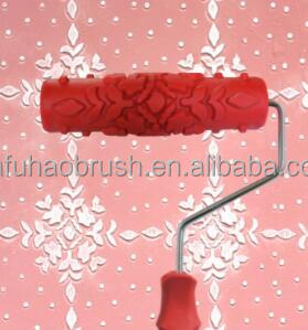 Wall Rubber Paint Brush Roller Decoration Tools Soft Pattern Texture