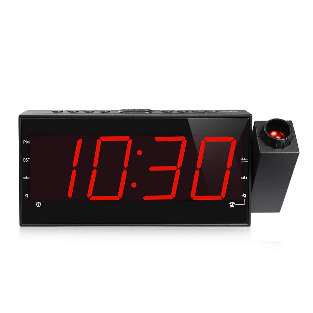 Qihuaxing top sale electric Multifunctional Radio time projection melody alarm clock