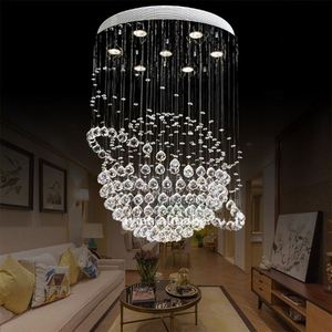 Modern Hotel Lobby Honey Pendant Design Large Crystal Chandelier