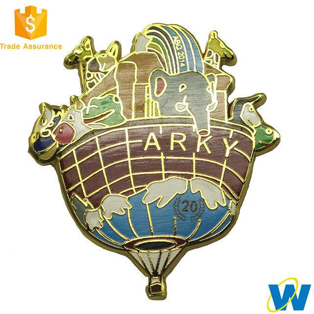 Wholesale Custom Iron Gold Soft Enamel Jacket Decoration Badge