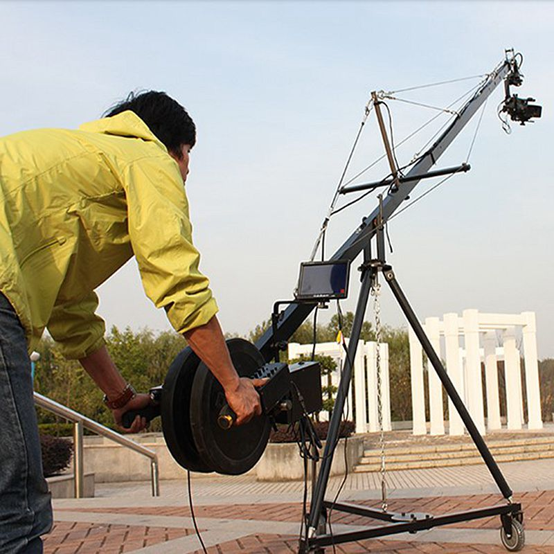 Factory Supply Professional 10m 2-Axis Motorized Tilt Head Video Jimmy Jib Camera Crane For Sale