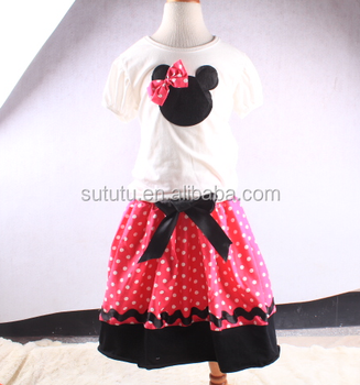 Name Brand Wholesale Western Wear Animal Top And Polka Dots Mini Skirt Cute  Baby Clothes - Buy Cute Baby Clothes,Western Wear For Girls Kids,Name
