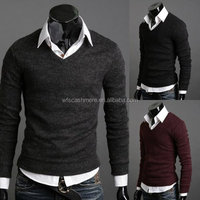 thin cashmere v neck pullover sweaters for men