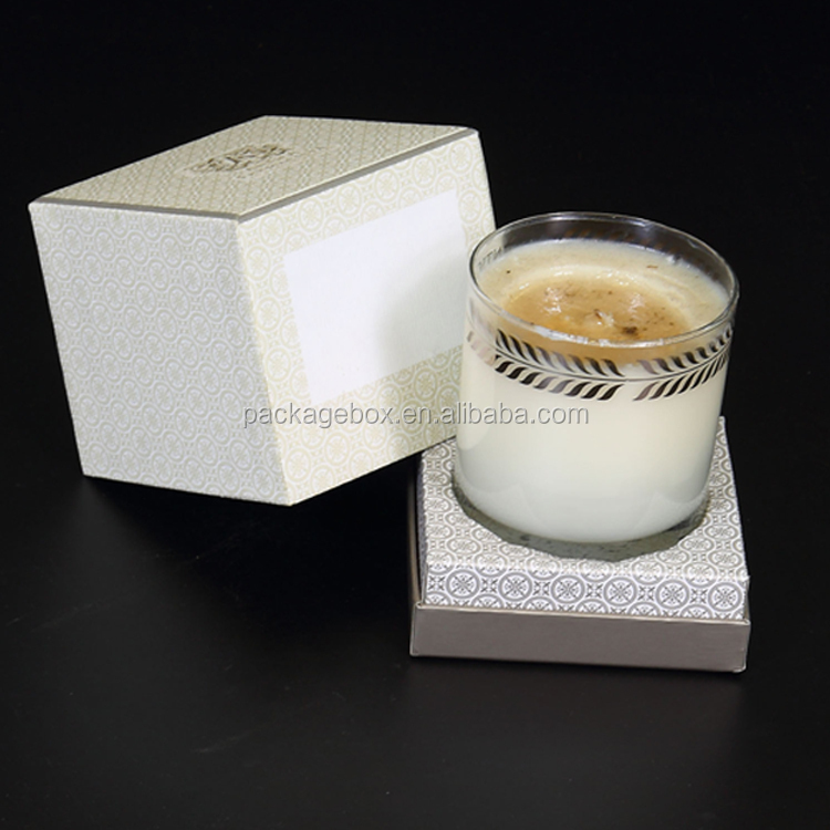 10x10x11CM Guangzhou Supplier Glass Candle Jar Packing / Candle Storage Box  Packaging For Paper Luxury Candle