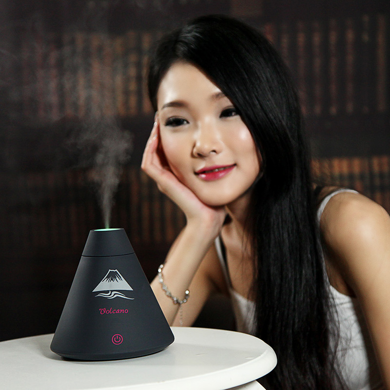 Creative Most Popular 160ml colorful led night light Volcano form Ultrasonic mist spray humidifier
