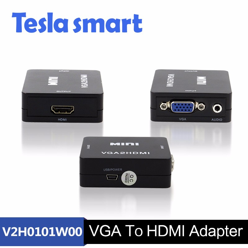 Certified Cheap High Speed VGA to HDMI Converter Convertor 1080P