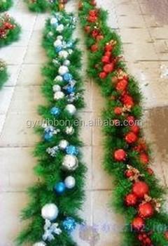 Hot Sale 8 Ft Green Pvc Christmas Tinsel Green Leaf Tinsel Garland Balls Decoratived Pvc Garland Buy Green Grass Christmas Garland Blue Christmas