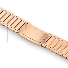 Ремешок из нержавеющей стали для Apple Watch 5 4 3 2 1 металлический браслет для Apple Watch аксессуары 44 мм 40 мм браслет для iWatch(Китай)