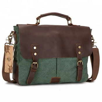 Branded Green Canvas Cute Messenger Bag For