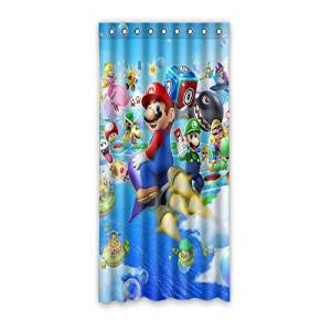 "VIASHOW Custom Personalized Super Mario Bros Blackout Window Curtains/drape/panels/treatment 52""x108""(one piece)"