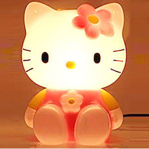 hello kitty cartoon ofhead eye lantern fashion piggy bank decoration table lamp in table lamps. Black Bedroom Furniture Sets. Home Design Ideas