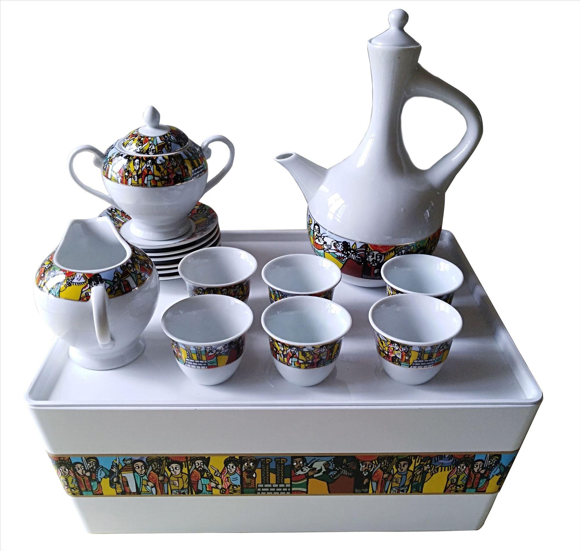 Alibaba.com / Ready to ship popular ethiopian coffee set with rekebot saba arts for ceremony