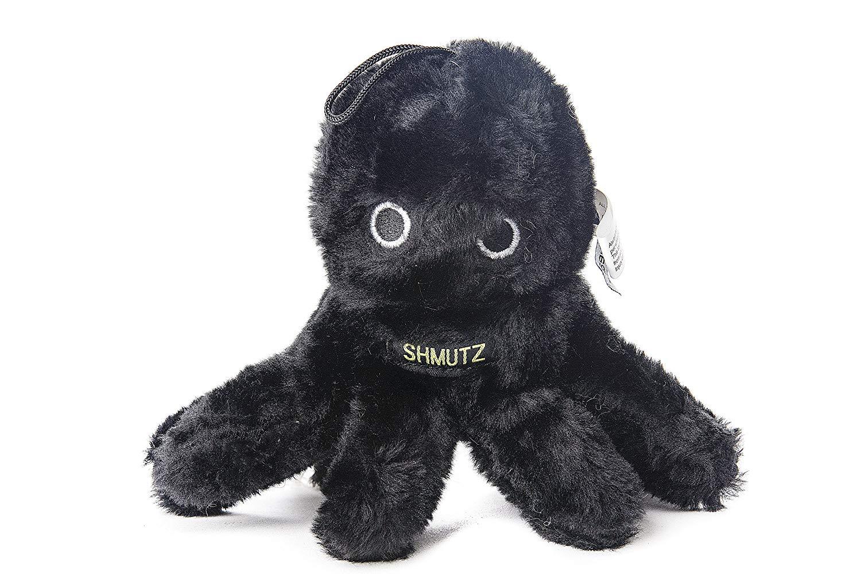 Copa Judaica Chewish Treat Schmutz Octopus Squeak Plush Dog Toy, 3 by 2.5 by 6-Inch