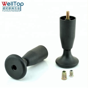 M10 M8 screw plastic furniture sofa bed leg glide with cup VT-03.082