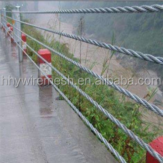 Cable guardrail system road and bridge safety protection