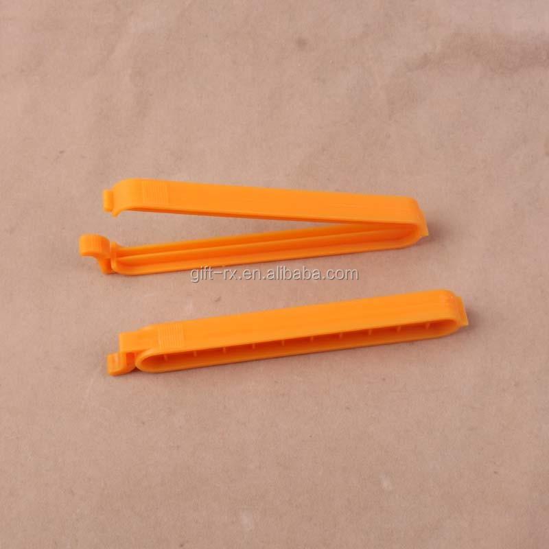 Custom plastic keukengerei voedsel brood zak afdichting clip voor promotie