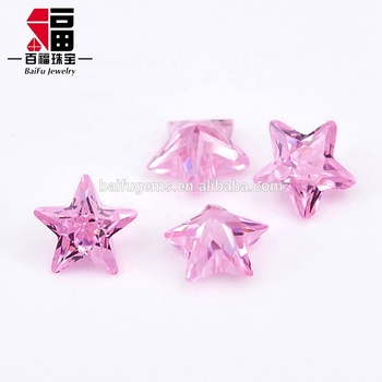 Custom wholesale price Belgium cut lab created gemstone star shape pink aaaaa cubic zirconia for jewelry