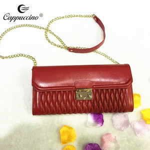 Wholesale new fashion chain shouder leather Clutch Purse in stock