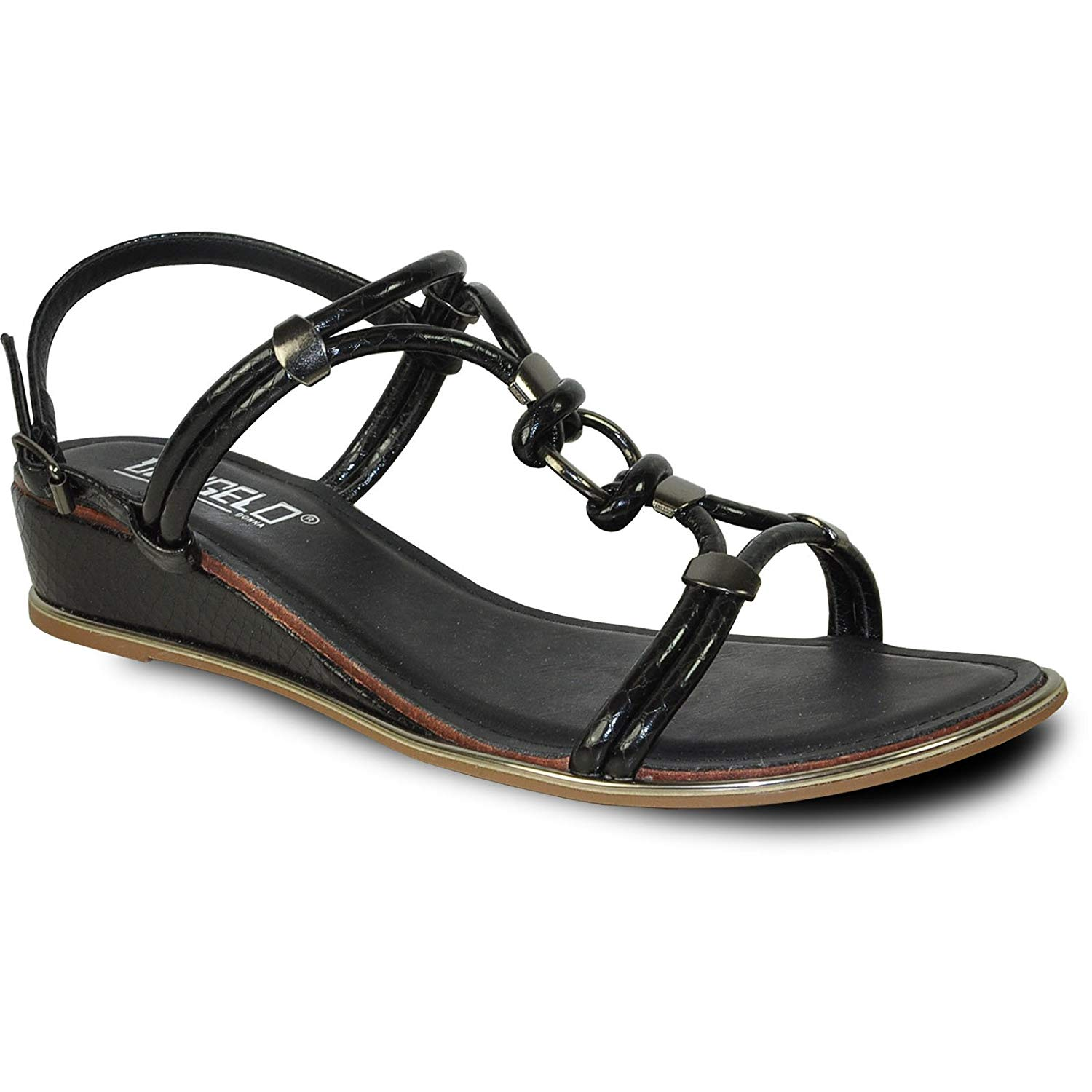 f2b61369acd43 Get Quotations · VANGELO Women Sandal Madison Fashion Wedge Sandal Black