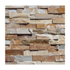 desert gold slate stacked stone for wall cladding
