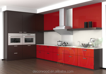 2014 Red Shaker Door Kitchen Cabinet Color Combinations Design China